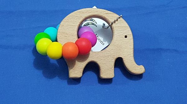 Bright Rainbow Elephant