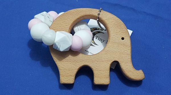 Pink, White & Marble Elephant