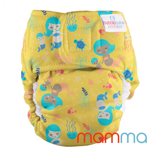 pebbles-all-in-one-newborn-reusable-cloth-nappy-mermaids
